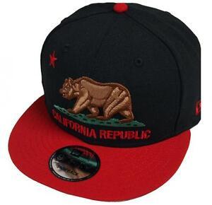 Image is loading New-Era-California-Bear-Black-Scarlet-Snapback-Cap- 2238008e6bd