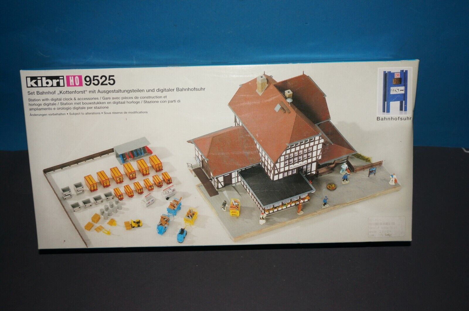 RF12] Kibri H0 No. 9525 Railway Station Kottenforst Kit Box