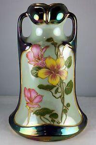 Antique Royal Bonn (?) Germany Luster Art Nouveau Vintage Vase