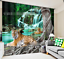 3D Tiger water8 Blockout Photo Curtain Printing Curtains Drapes Fabric Window AU