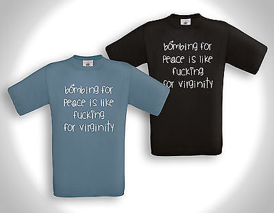 Bombing For Peace Is.... - T-shirt - Friedensbewegung Punk Antifa Refugees Hc