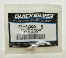 New Mercury Mercruiser Quicksilver Oem Part # 21-42623  3 Check Valve