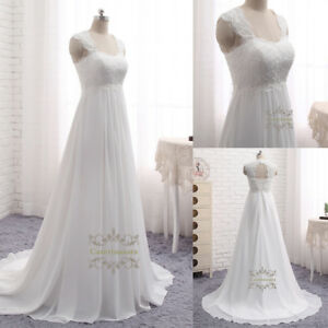 A Line Square Neck Wedding Dresses French Lace Applique Keyhole Back ...