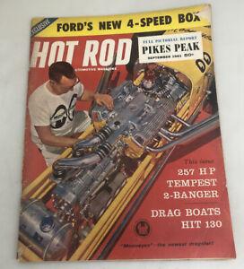 Vintage  Original September 1961 Hot Rod Magazine Automotive Custom Car Mods