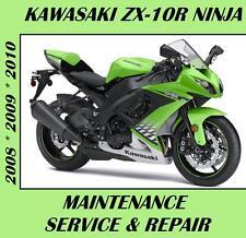 Kawasaki ZX10R Ninja ZX1000 Maintenance Service Repair Manual 2008 2009 2010