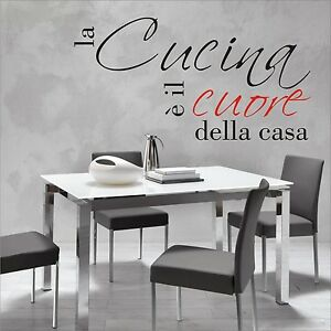 Adesivo muro wall stickers casa cucina design moderno for Decorazioni muro cucina