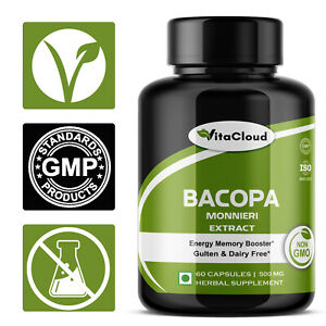 Bacopa-Monnieri-Extract-Brain-Memory-Enhancer-Mental-Focus-Capsules-500mg