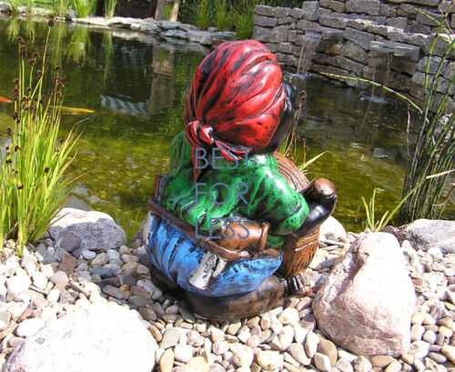 Maulwurf Dekofigur Gartenfigur Garten Dekoration Seeräuber Maritim Figur Pirat