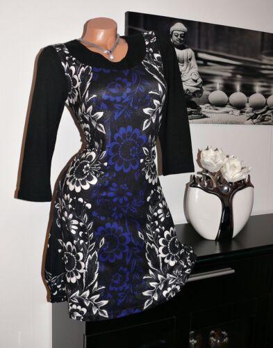 ♥ Rest NEU Strick Stiefel Kleid Tunika 3//4 Arm schwarz blau 38 40 gr ♥
