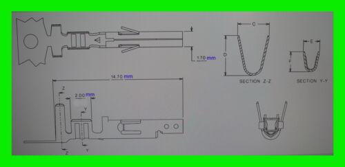 60 x Molex Mini Fit Jr Stecker Kontakte Weiblich ..VB.5 ....Einsatz Crimp Buchse