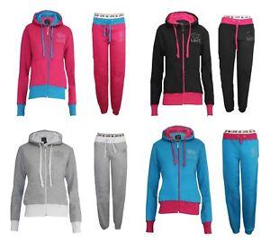 Womens-Tracksuit-Ladies-Girls-Sports-Gym-Sweatshirt-Pants-Trouser-Jogging-Hoodie