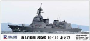 PIT-ROAD-1-700-JMSDF-DD-119-Destroyer-ASAHI-Model-Kit-w-Tracking-NEW