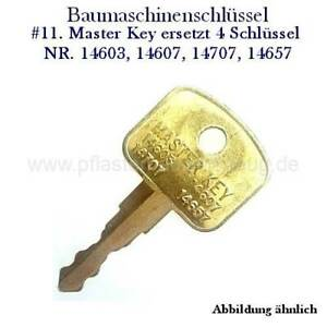 Bobcat Bagger Radlader #1 Baumaschinenschlüssel Zündschlüssel Nr F900 Doosan