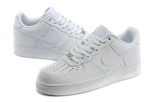 Details about 315122-111 Nike Air Force 1 One 07' Mens Low Leather Sneakers  Shoes All White DS