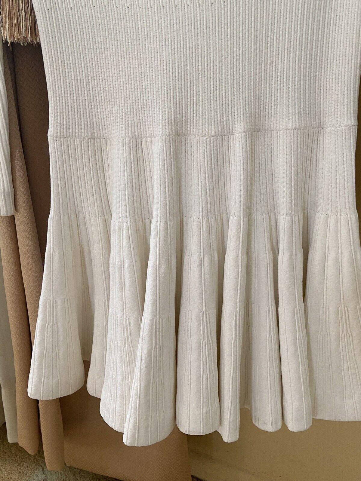 Azzedine Alaia White Long Sleeve Top Blouse Dress… - image 5
