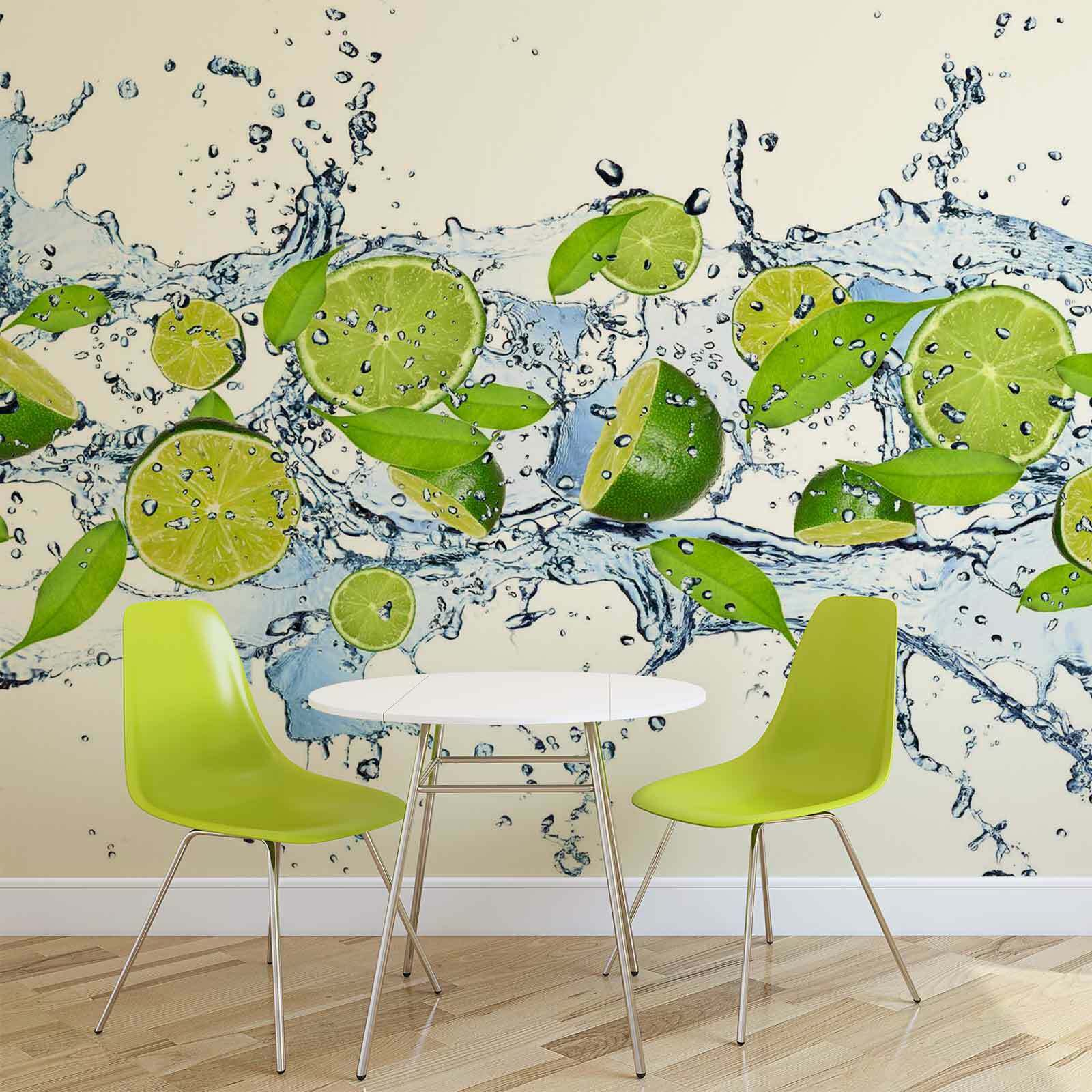 WALL MURAL PHOTO WALLPAPER XXL Limes Water (288WS)