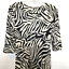 miniature 4 - Diane von Furstenberg Silk Dress Sz 2 Zebra Print 3/4 Sleeve V Neck Sheath