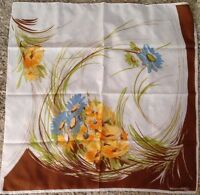 """Vintage Michelangelo Capri 30"""" square fall colors floral polyester scarf"""