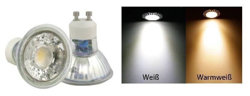 1 - 10er Power LED 230V GU10  7W = 52W Kaltweiss & Warmweiss Dimmbar
