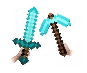 Minecraft Diamant Diamond Schwert 60cm Spitzhacke 46cm Schaumstoff