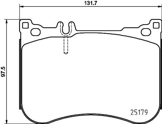 Hella Pagid Front Brake Pads T2322 fits MERCEDES-BENZ S-CLASS X222,W222,V222