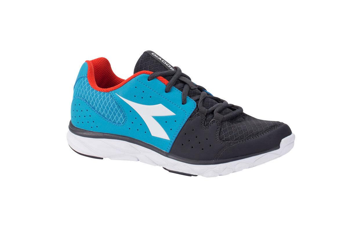 Diadora Running shoes Sneaker Jogging Man Hawk 7 blueee fluo orange fluo shoes