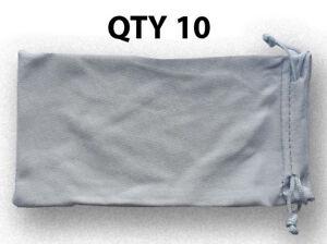 10-Silver-Micro-Fiber-Sunglasses-Pouch-Sunglass-Case-Bag-Soft-Storage-Sleeve