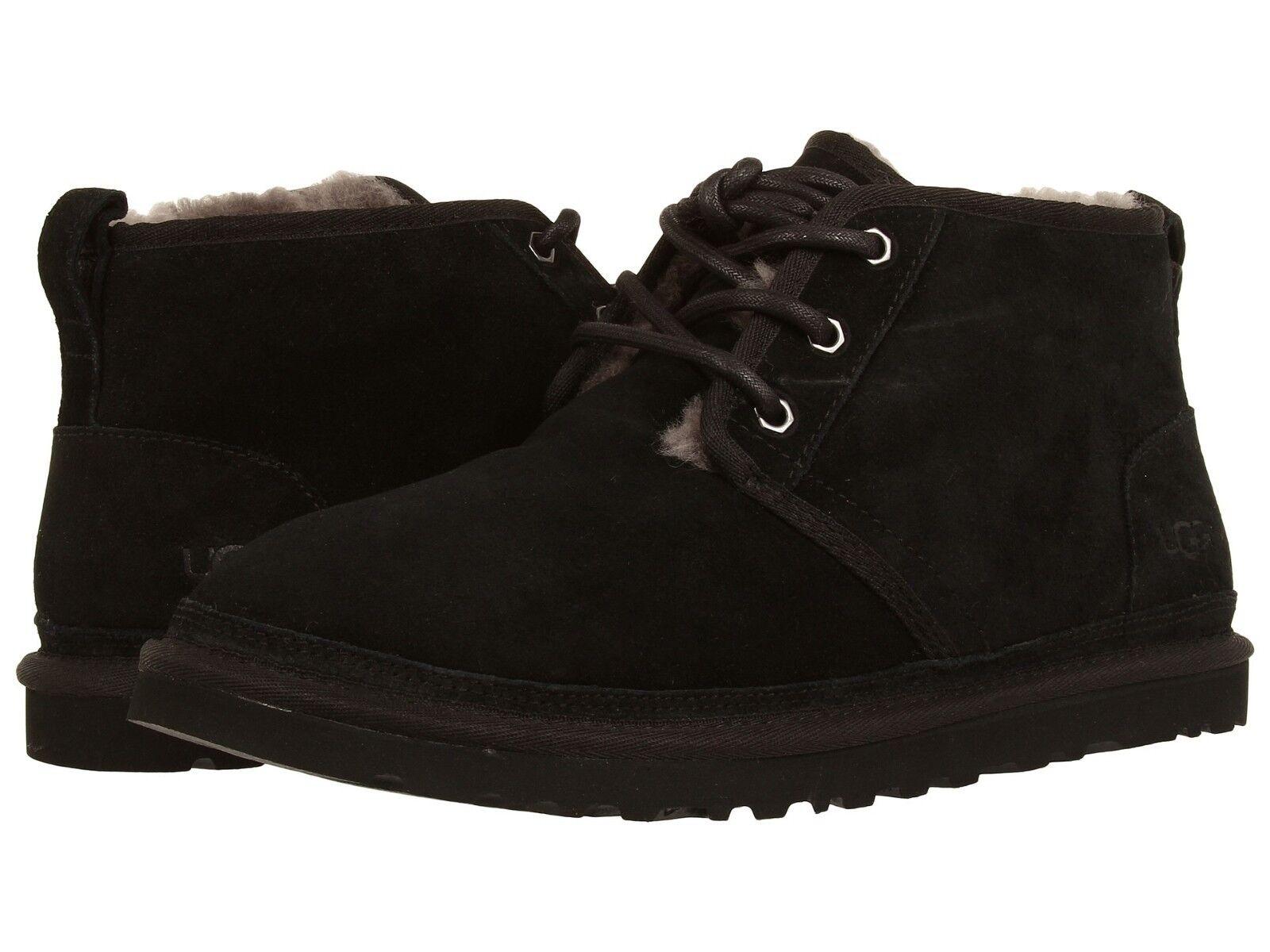 6a55224ce2b UGG Australia Mens Neumel Black Suede BOOTS 3236 Size US 12 UK 11