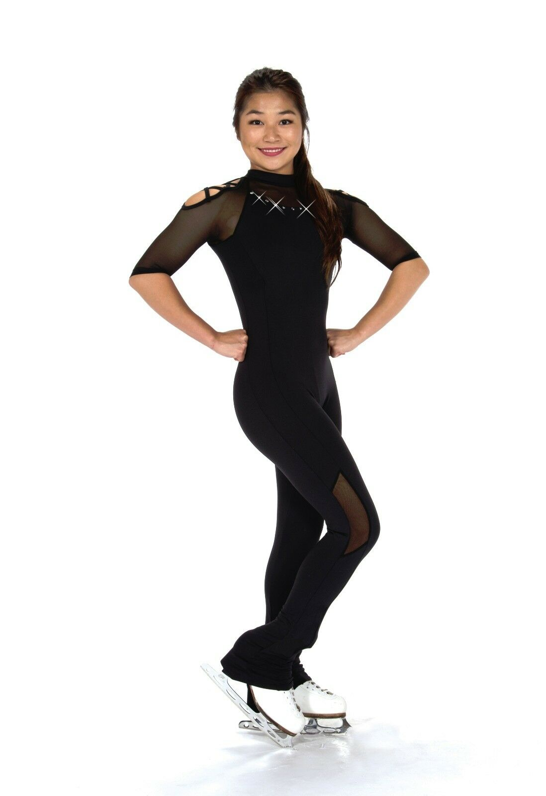 New Figure Skating Dress Catsuit 291 Long Sleeve size youth 12-14