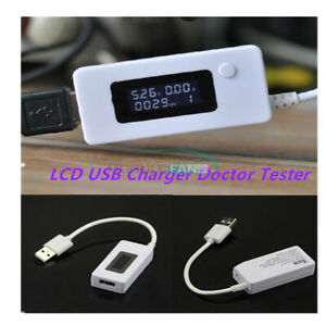 Dual USB Charger Mobile Power Detector Voltage Current Meter Tester Monitor LCD