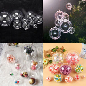 Clear-Plastic-Craft-Ball-Acrylic-Transparent-Sphere-Bauble-christmas-bauble-FT