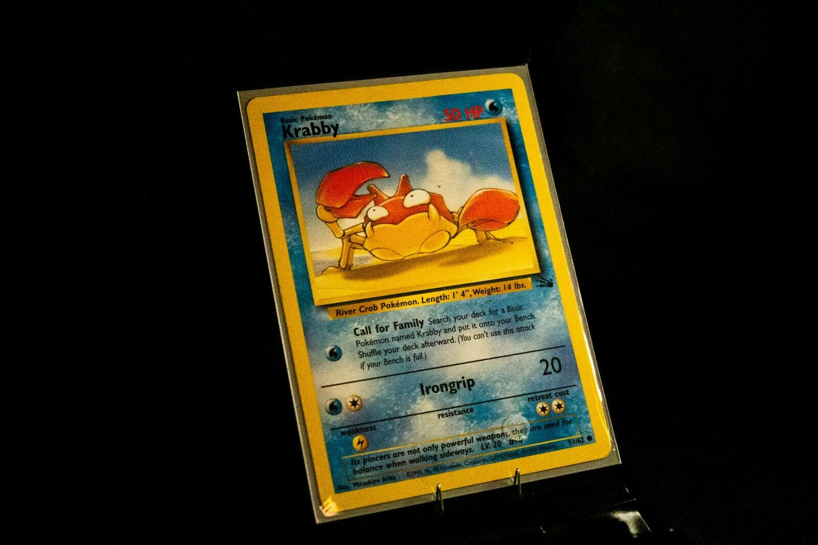 Krabby  62 Common Fossil Set Mint Condition