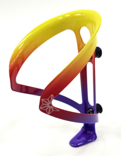 Supacaz Fly Bicycle Water Bottle Cage Limited Edition Neon Purple//Red//Yellow