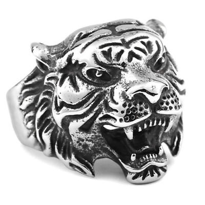 Men Domineering Tiger Head Carving Finger Ring Punk Jewelry Gift Innovation gift