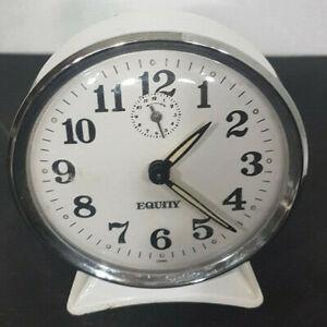 Vintage-alarm-clock-Equity-mechanical-wind-up-clock