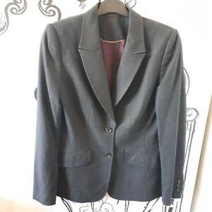 Womens Austin Reed Size 10 Dark Charcoal Grey 96 Wool Smart Suit Jacket Blazer Ebay