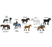 Safari Horses and Riders Toob Toys