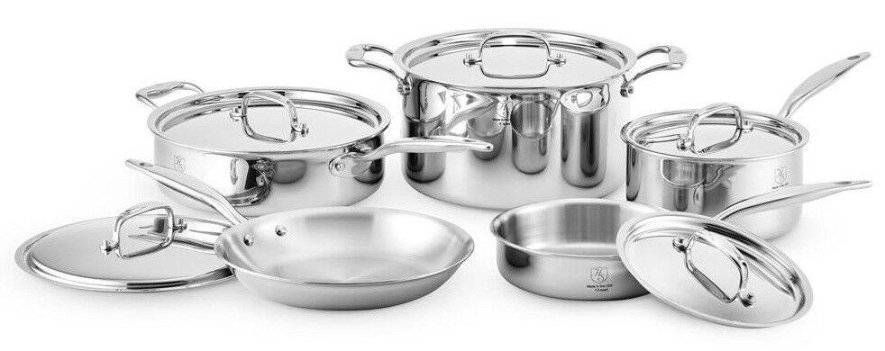 Marteau Stahl 7 brins en acier inoxydable four 10 Pièce Core Cookware Set 17002