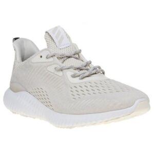 Nuova Uomo Adidas Bianco Naturale Alpha Rimbalzare Nylon Formatori A Correre