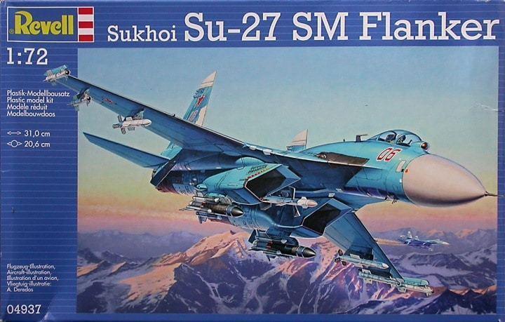 REVEL Sukhoi Su -27SM Flanker 04937 PE Eduard SS509 -1  72