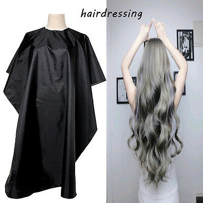 Salon Hair Cut Hairdressing Barbers Hairdresser Cape Gown Cloth Waterproof Black