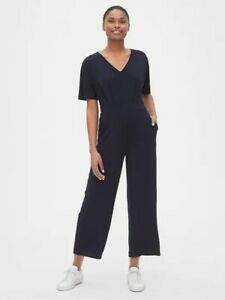 NWT-Gap-Navy-Blue-10T-10-TALL-Kimono-Sleeve-Wide-Leg-Jumpsuit