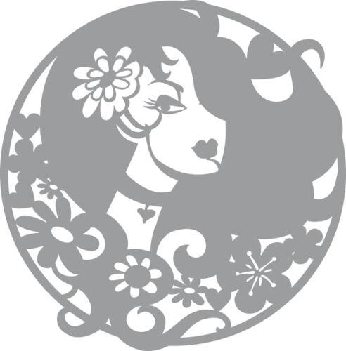 Pronty-pochoir-masque-modèle lady in circle 470.805.018