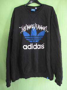jersey coton Homme Adidas Noir Vintage sur world Famous style The Détails XL Sweat Yfy6bvg7