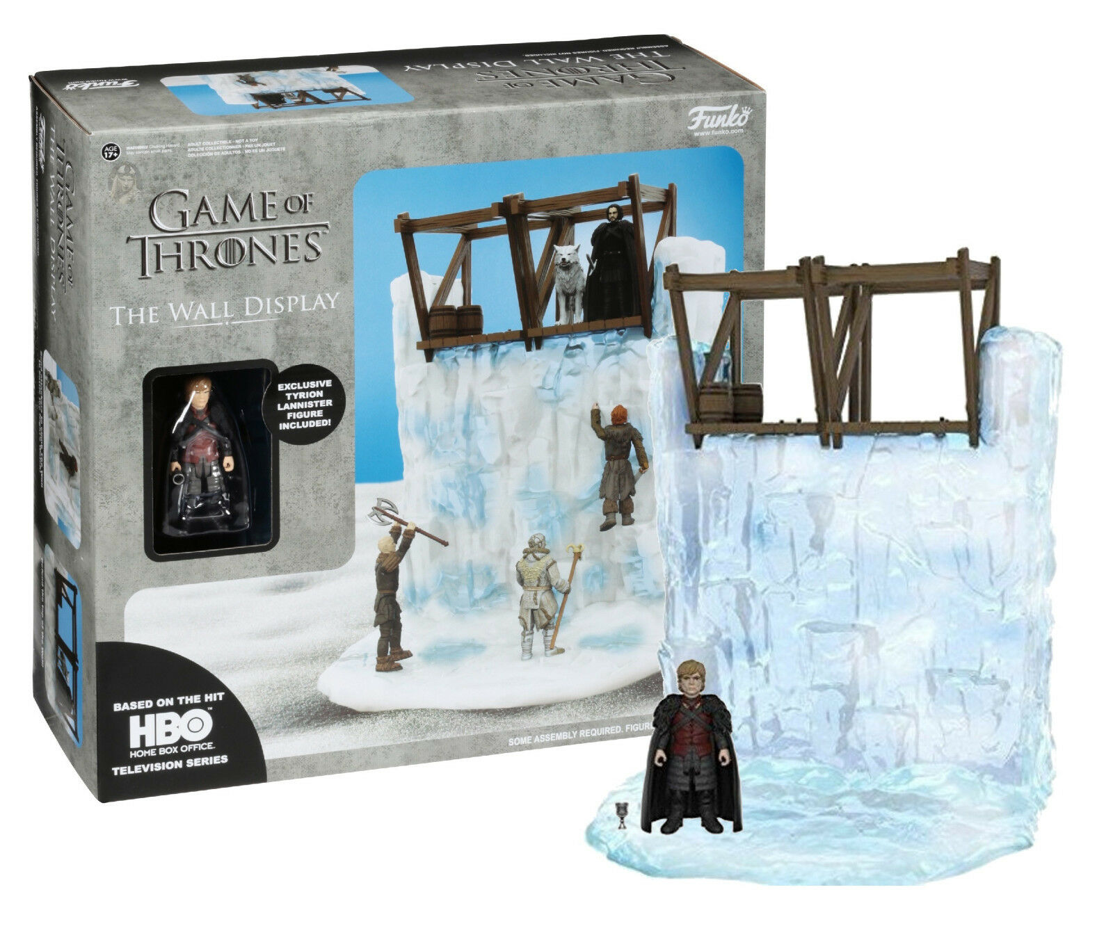 Game of thrones die wand display mit tyrion lannister 3,75  action - figur nib