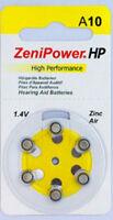 120 Size 10 Zenipower Hearing Aids Aid Batteries