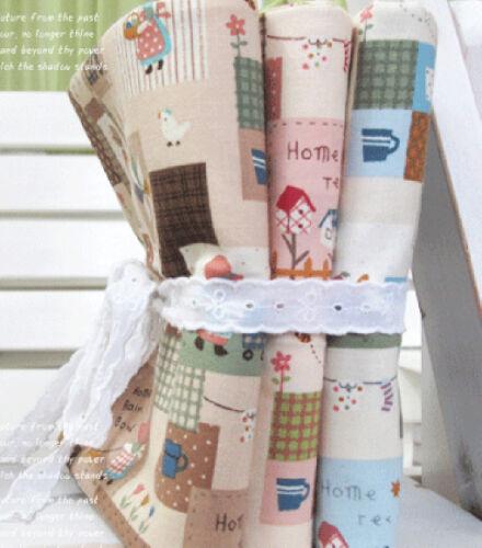 2+1 3PCS SUNBONNET PATCH 3COLOR Quilting Crafts Home deco Fabric 100/% Cotton