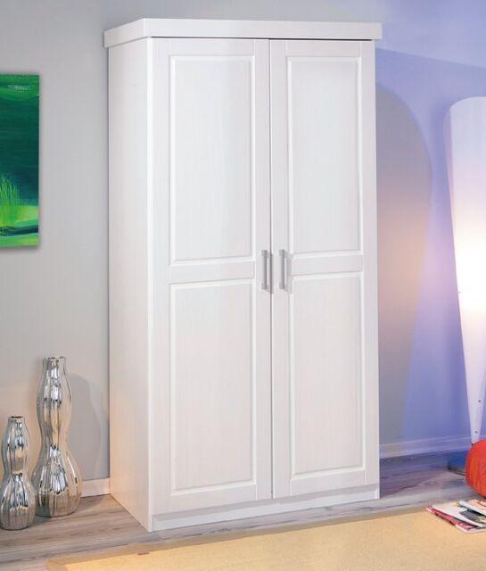 Kleiderschrank Hakon 2-türig weiß | eBay