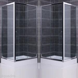 Box doccia scorrevole porta con lato fisso in vetro cristallo 6 mm trasparente ebay - Vetro doccia scorrevole ...