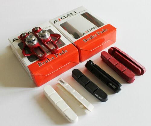 Aican Road Bike brake pads shoes catridge Ultralight for Shimano Red,2 pair
